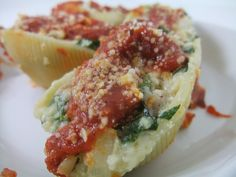 Sausage, Spinach, Ricotta Stuffed Pasta Shells | by swampkitty