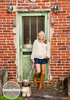 Senior pic idea Photo with dog by Beth Forester Photography