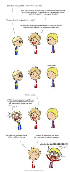 Scandanavia and the World (a literal translation of the Danish number system) <<< Lol, I'm Danish and it took me a while to get it. But yeah, our number system is a bit weird when you think about it like that. Love Quotes Funny, Funny Love, Satw Comic, Good Jokes, Funny Happy, Funny Clips, Funny Art, Hetalia, Funny Texts