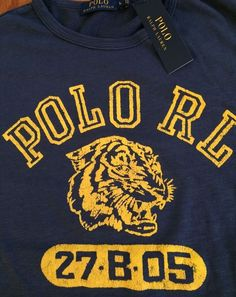 NWT POLO RALPH LAUREN Athletic Div. Polo RL 27.B.05 Tiger T-Shirt Sz 2XLT B&T #PoloRalphLauren #BasicTeewithLogo