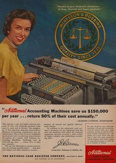 Love these vintage office supply ads. Brought to you by Shoplet.com - everything for your business.