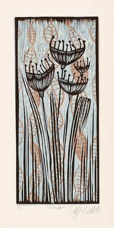 A Lino Mix and Match, 3 plates layered on top of each other Linocut Prints, Art Prints, Linoprint, Wood Engraving, Art Images, Art Lessons, Printmaking, Collage, Illustration