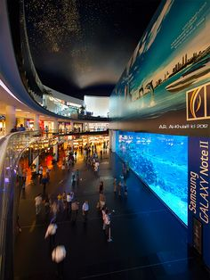 he world's largest shopping and entertainment destination. The Dubai Mall, with its retail outlets, two anchor department stores, and over 160 food and beverage outlets is one of the Dubai Shopping Festival strategic partners. Shopping Mall Interior, Dubai Shopping, Dubai Mall, Shopping Malls, Dubai Aquarium, Living In Dubai, Ferrari World, Travel Light, United Arab Emirates