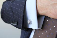 EXCEPTIO, sterling silver half-spheres cufflinks