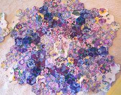 beautiful watercolor hexagons