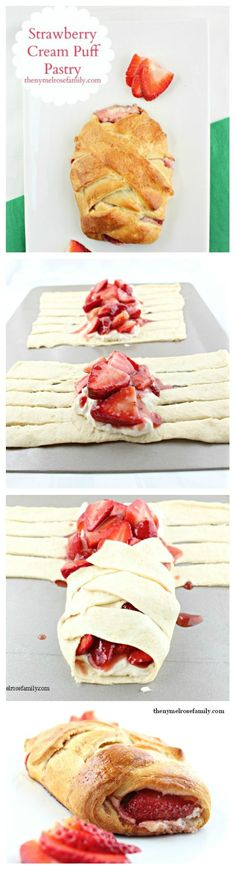 Strawberry Cream Puff Pastry