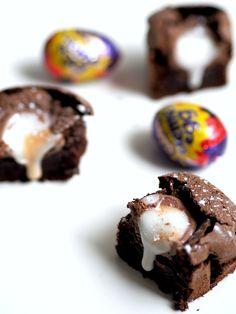 Creme Egg Brownies.