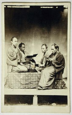A group of Japanese merchants, ca. 1860 by Felice Beato