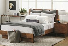 "Master Bedroom - the Hudson Bed has a low profile at 42""H, and it has a slightly rustic look without feeling clunky."