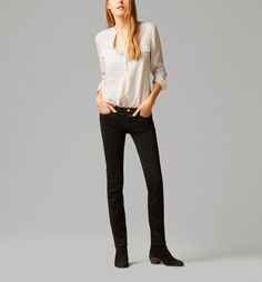 SLIM FIT COLOURED JEANS STYLE TROUSERS