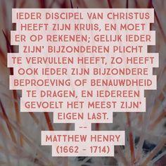Discipel van Christus - Matthew Henry (1662 - 1714)