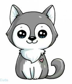 Cute animals drawings more at @ kawaii girl drawings, cute girl drawing, Cute Wolf Drawings, Kawaii Girl Drawings, Cute Animal Drawings Kawaii, Cute Easy Drawings, Cute Girl Drawing, Disney Drawings, Cartoon Drawings, Cute Drawings Of Animals, Puppy Drawings