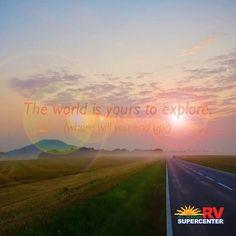 Where will your travels take you? #explore #roadtrip #RVing AllSeasonsRV.com