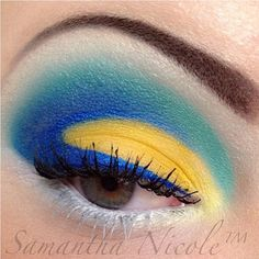 Love this sweet eye shape by itsxxsam! She used her Sugarpill eyeshadow palettes with NYX eyeliner. Such a pretty color combo!