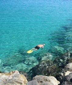Snorkeling in Almirida, Greece