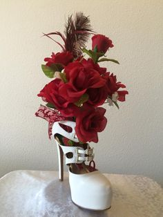 To order your custom made floral shoe arrangement email me at fashionm4women@yahoo.com  or order from http://www.bonanza.com/booths/Fashionm4women  © 2015 fashionm4women.  All Rights Reserved.   or order from http://www.bonanza.com/booths/Fashionm4women