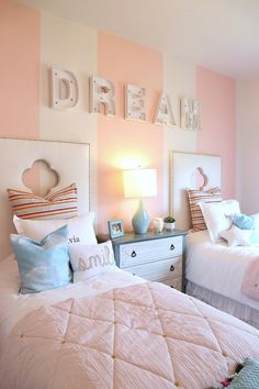 Find our best tips when it comes to creative kids bedroom decorating ideas and tricks. Whether looking for nursery or teen bedroom decor ideas, we've got lots of ideas to inspire you and help creative a fun space that your child will love. Twin Girl Bedrooms, Sister Bedroom, Shared Bedrooms, Awesome Bedrooms, Girls Bedroom, Lego Bedroom, Childs Bedroom, Boy Rooms, Twin Girls