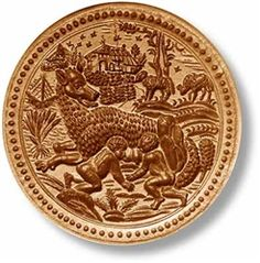 """Romulus and Remus springerle cookie mold, dia. 4.1"""" (105mm)</span><br>"""