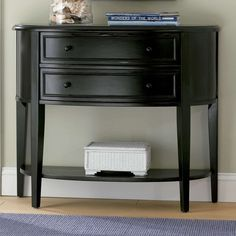 Shop Powell Furniture Demilune Console Table with great price, The Classy Home Furniture has the best selection of Sofa Tables to choose from Entry Hall Table, Hallway Table Decor, Entry Tables, Sofa Tables, Console Tables, Hallway Console, Bedroom Table, Accent Tables, Entry Foyer
