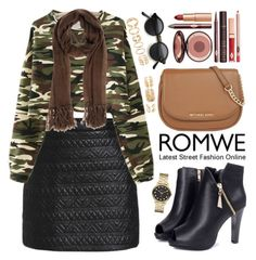 """""""Romwe"""" by oshint ❤ liked on Polyvore featuring Momonì, MICHAEL Michael Kors, Charlotte Tilbury, Marc by Marc Jacobs, Forever 21, women's clothing, women's fashion, women, female and woman"""