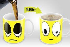 Buy 20 Colors Wake Up Magic Mug Amazing Heat Sensitive Color Changing Coffee Mug Good Unique Gift Idea Ceramic Mug at Wish - Shopping Made Fun Funny Coffee Mugs, Coffee Humor, Funny Mugs, Drink Coffee, Cartoon Smiley Face, Personalised Snow Globes, You're Awesome, Amazing, Thing 1