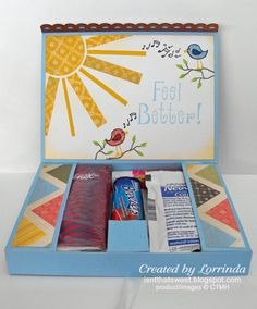 Isn't That Sweet?!: A Cold Care-Package Card and Package ideas