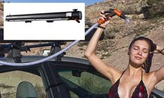 Car-mounted solar shower lets drivers freshen up anywhere http://dailym.ai/P4SVwk #DailyMail