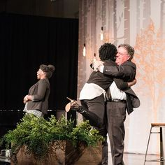 One of our favorite moments last night from #TOFWlayton: Brad Wilcox running up on stage to hug Tamu Smith while she was speaking!