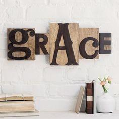 Grace - Letterpress Block Set