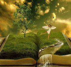 Imagine the fairy tale. Fantasy Books, Fantasy World, Fantasy Castle, Fantasy Kunst, Fantasy Art, Fairy Land, Fairy Tales, Elfen Fantasy, World Of Books