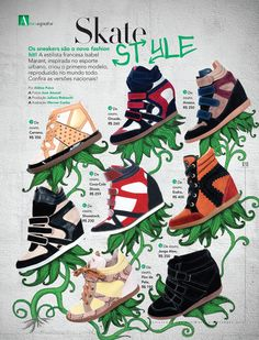 Street Art Ilustração Revista A by Werner Cunha, via Behance Sneakers Fashion, Behance, Illustrations, Movie Posters, Cunha, Urban, Film Poster, Popcorn Posters, Illustration