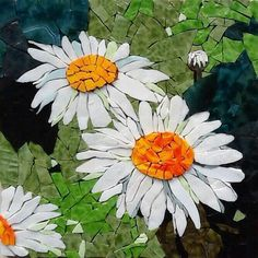 Daisy mosaic … by krista Mosaic Tile Art, Mosaic Pots, Mosaic Artwork, Mosaic Diy, Mosaic Garden, Mosaic Crafts, Mosaic Projects, Stone Mosaic, Mosaic Glass