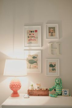 Petit Collage prints in Baby Henry's sweet sweet nursery.