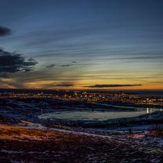 Evening Sun in Hafnarfjordur.