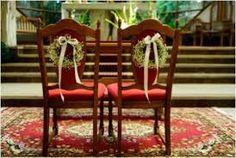 Znalezione obrazy dla zapytania ślub dekoracja krzeseł