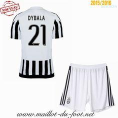 acheter Maillot de foot Juventus Enfant DYBALA 21 Domicile 2015 2016 store