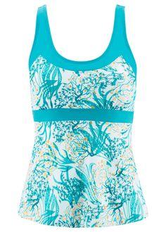 Tankini felsőrész fehér/türkiz Állítható • 2999.0 Ft • bonprix Outfit, The Selection, Swimsuits, Tank Tops, Women, Style, Fashion, Tops, Outfits
