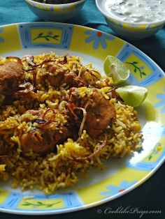 Restaurant Style Hyderabadi Chicken Biryani  - results were good - except the color didn't turn out like the picture. - t & t