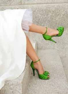make a statement by pairing bright shoes with your dress!