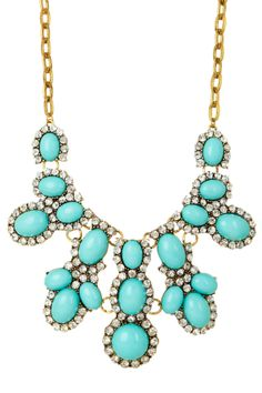 Luxe Minty Bib Necklace, for fashonista days or to spice up an outfit for work