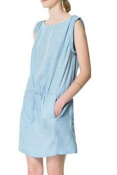 Double-pocket Sleeveless Casual Dress