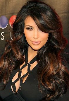 She is one of the prettiest and sexiest woman. she really knows her makeup and hair! Kim Kardashian hair color | Play With Fashion