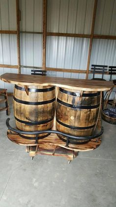 En chêne massif Whisky//Whiskey Baril portées Bourbon Scotch-Authentique rustique