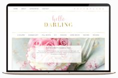 Darling is a beautiful feminine Genesis Wordpress theme by TinselPop $39 https://crmrkt.com/WVGQG #ad