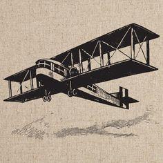 Old Airplanes 1. $1.00, via Etsy.