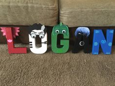 PJ Mask Custom Décor Letters by KimsPlaceDesigns on Etsy