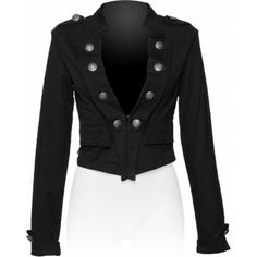 Military style short jacket for women
