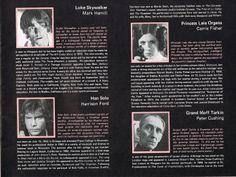 Star Wars original program page 5. Copyright 1977 by Twentieth Century-Fox Film Corporation. All Rights Reserved.