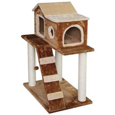 Cat Tree Bed Sisal Scratching Post Furniture Playhouse Pet Bed Kitten Cat Tower Condo Stairs for Kittens -- Check out the image by visiting the link. (This is an affiliate link) Tree Bed, Cat Tree Condo, Scratching Post, Sisal, Cat Toys, Play Houses, Cats And Kittens, Pets, Outdoor Decor