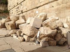 Street Jesus walked and stones from the temple of Jesus' day. Jewish Temple, 12 Tribes Of Israel, Holy Land, The Covenant, Historical Sites, Destruction, Archaeology, Omega, Stones